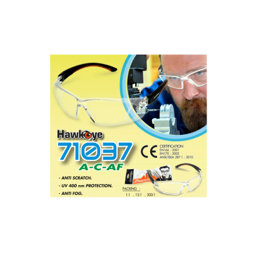 Picture of Hawkeye 71037CAF Sports safety glasses