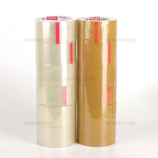 รูปของ เทปปิดกล่อง Bug OPP Tape ขนาด 2 นิ้ว x 45 หลา แพ็ค 6 ม้วน มี 2 สีให้เลือกใช้งาน