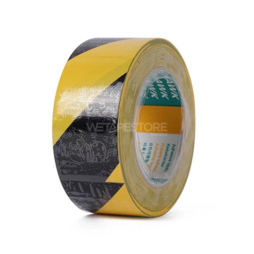 Picture of KINGHAWK K621 Black Yellow PVC Floor Masking Tape