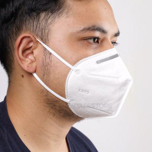 รูปของ หน้ากาก KN95 สำหรับป้องกันฝุ่นและไวรัสที่มากับสารคัดหลั่ง แบบ 5 ชั้น